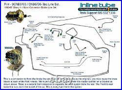 1962-67 Chevy II Nova Power Disc Brake Conversion Brake line Tube Set Kit 10p OE