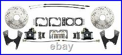 1964-1972 GM A Body Wilwood Front Rear Disc Brake Kit Chrome Booster Conversion