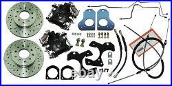 1982-92 GM F Body Camaro Rear Axle Disc Brake Conversion Kit Cross Drill Slotted