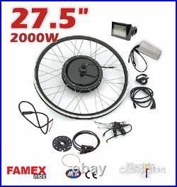 27.5 Electric Bicycle Conversion Kit E Bike Rear Wheel Motor Hub 2000W 48V UK