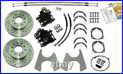 55-70 Chevrolet Chevy Fullsize Cars Rear End Disc Brake Conversion Kit Set WPark