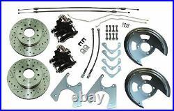 67-69 F X Staggered Rear End Axle Disc Brake Conversion Kit 10/12 Bolt Cross Dri