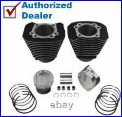 883 To 1200 Black Cylinder Piston Big Bore Conversion Kit Harley Sportster 04-20