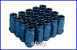 BMW 12mm & 17mm Wheel Spacers Plus Stud Conversion & Blue Racing Lug Nuts Kit