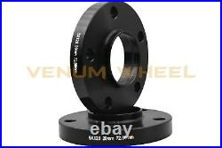 BMW E36 E46 Black Wheel Spacer Staggered Kit 12mm & 20mm Racing Stud Conversion