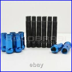 Bmw Stud Conversion Kit Includes 20 Racing Studs And 20 Blue Racing Lug Nuts