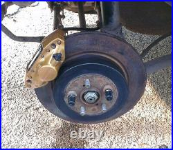CNC conversion bracket kit for 2-pot brake Subaru Forester Impreza 99-07