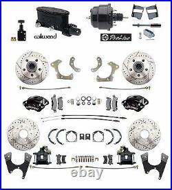 Chevy BelAir 55-58 Front & Rear Wilwood Disc Brake Kit Booster Conversion Kit