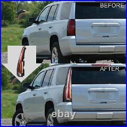 Customized CLEAR LED Tail Lights For 07-14 Yukon Suburban Tahoe Escalade Style