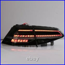 Customized MK7.5 Style SMOKE FULL LED Taillights for 16-17 VW Golf MK7 / GTI