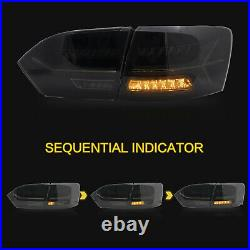 Customized SMOKED LED Tail Lights with Sequential Turn for 11-14 VW Jetta MK6
