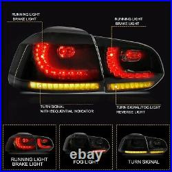 Customized SMOKED LED Taillights for 10-14 VW GOLF 6 MK6 GTI 12-13 Golf R