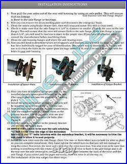 FORD 9 8 Rear Axle End Disc Brake Conversion Kit Small Bearing WPark Cross