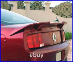 For 05-09 Ford Mustang EOS R Style Primer Black Rear Trunk Spoiler Lid Wing Lip