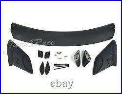 For 16-Up Honda Civic Hatchback Rear Trunk Wing Spoiler Type R Style Primered BK