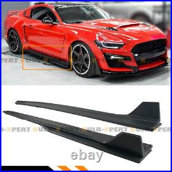 For 2015-2020 Ford Mustang GT500 Style Side Skirt Extension Splitter With Winglet