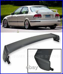 For 96-00 Honda Civic Sedan Mugen Style ABS Plastic Rear Trunk Wing Spoiler Lip