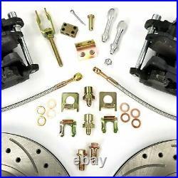 GM 10 & 12 Bolt Rear Axle 11 Disc Brake Conversion with E-Brake Kit AFX 8.2 8.5