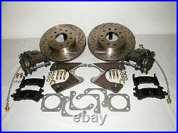 GM 10 & 12 Bolt Rear Disc Brake Conversion Kit Drilled & Slotted Rotors 4 Wheel