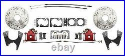 GM & Chevy 10 / 12 Bolt High Performance 11 Rear Disc Brake Conversion Kit, RED