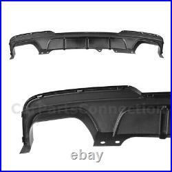 Glossy Black Diffuser For BMW 550i 2011-2016 Shark Fins F10 Sedan M Sport Bumper