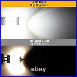JDM ASTAR 2x 80W H10 9145 High Power LED CREE 6000K Super White Fog Lights Bulbs