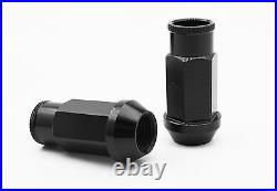 M14x1.5 Racing Stud Conversion Kit 90mm Studs With Black Racing Lug Nuts Conical