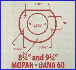 Mopar 8 3/4 or Dana 60 Rear Axle End Disc Brake Conversion Kit A, B, E Body CDri