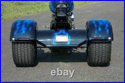 Trike Axle Conversion Kit Rear End Differential Harley Chopper Chain Drive Black