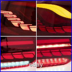 VLAND FULL LED RED Tail Lights for 2010-2014 VW GOLF 6 MK6 & 2012-2013 Golf R